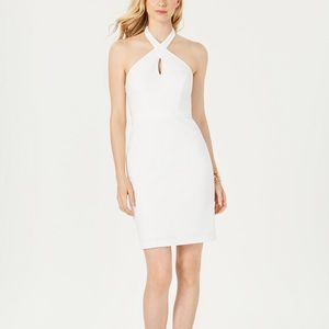 Adrianna Papell ivory cocktail dress
